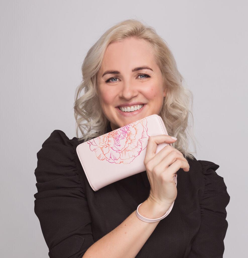 roosa suur rahakott modelliga LOVÉN