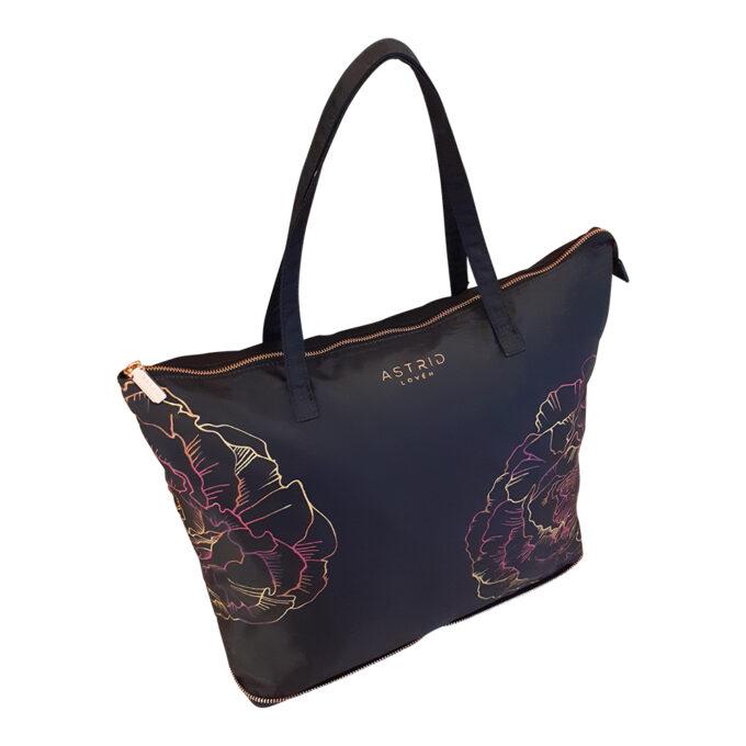 shopping bag travel bag unique hand painted bag astrid loven