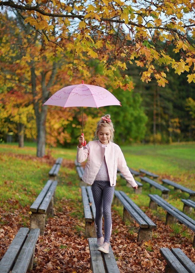 roosa laste vihmavari