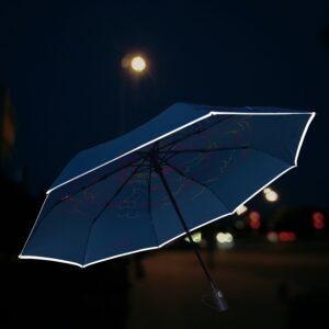 Helkuriga sinine vihmavari naistele
