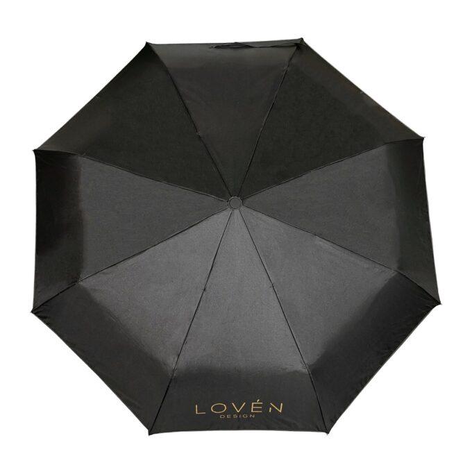 Must vihmavari Lovén pealt vaates