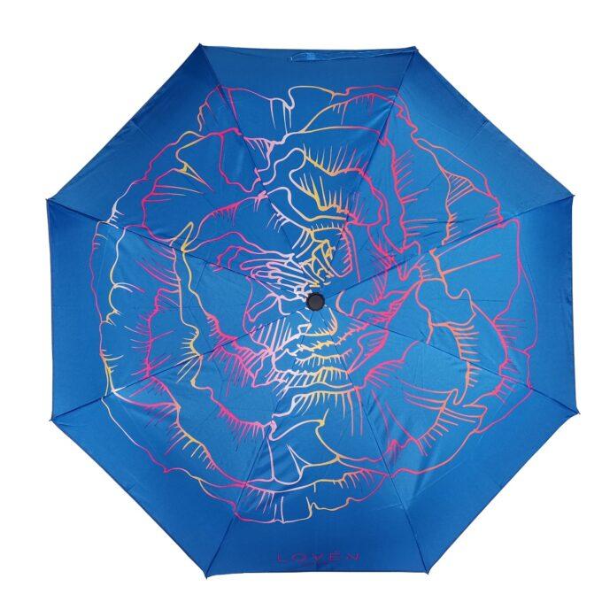 sinine vihmavari LOVÉN pealt vaates