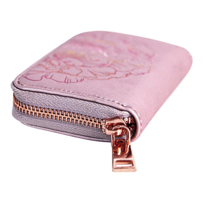 Väike roosa rahakott luku vaade LOVÉN RECYCLED