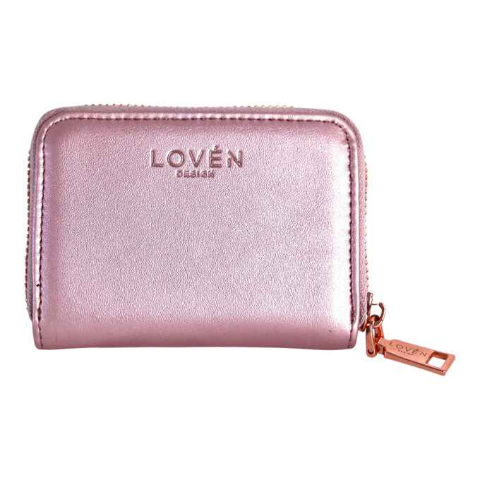 Väike roosa rahakott tagumine külg LOVÉN RECYCLED